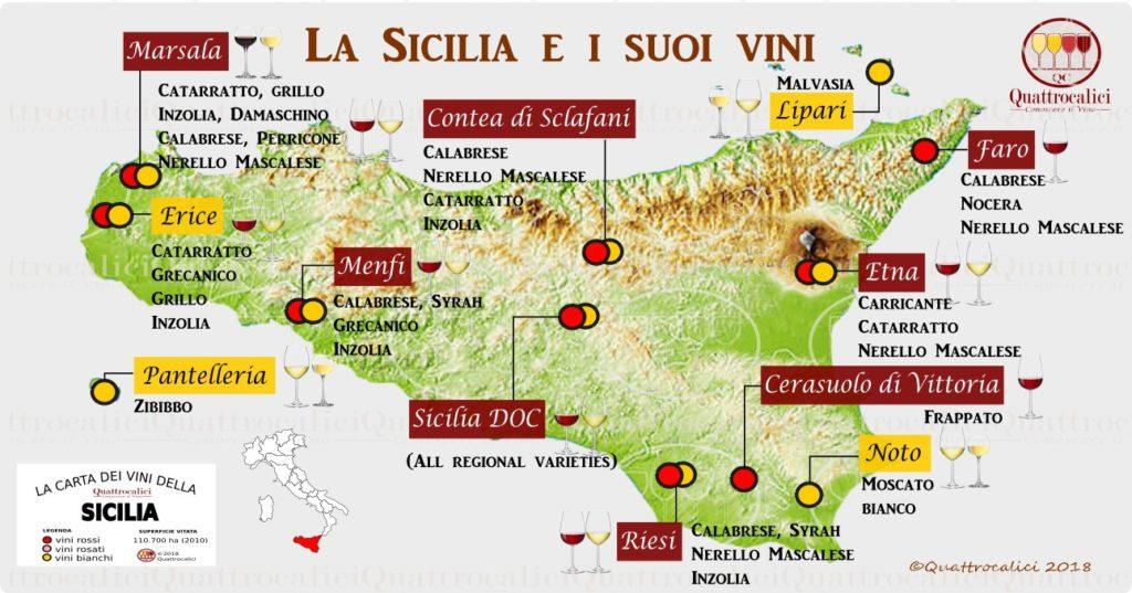 Mappa Sicilia vinicola