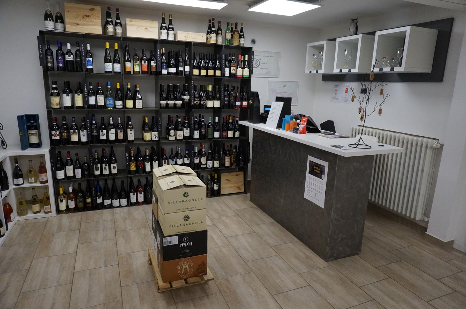 Entrata dell'enoteca di vini Botrytis
