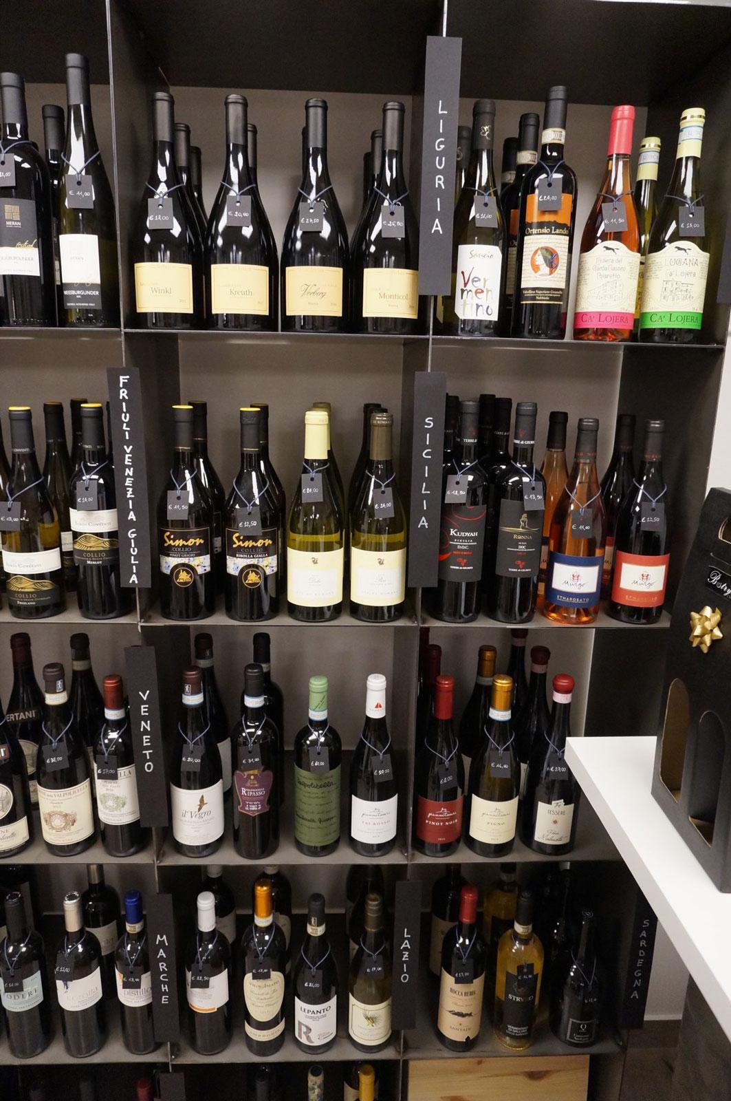 Enoteca di vini Botrytis dal Friuli Venezia Giulia e Veneto