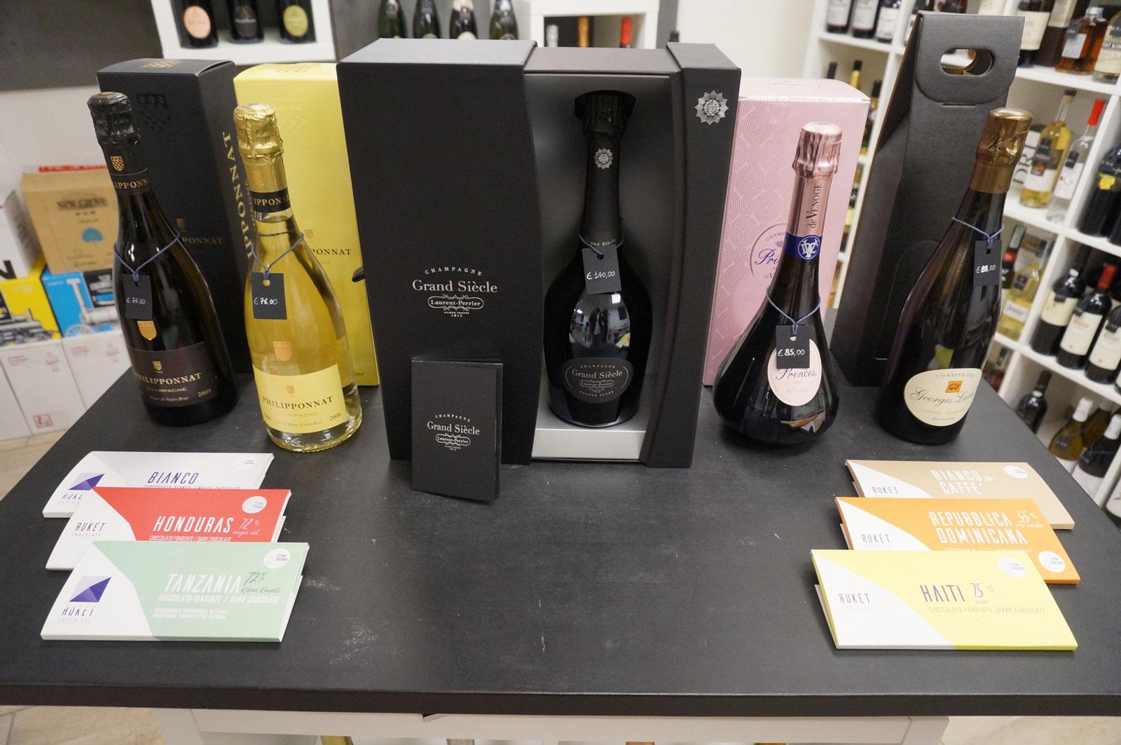 Botrytis Enoteca vini, bottiglie di Grand Siecle, Philiponnat