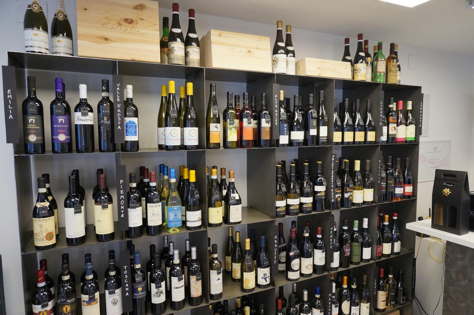 Vini italiani di ogni regione in Enoteca Botrytis