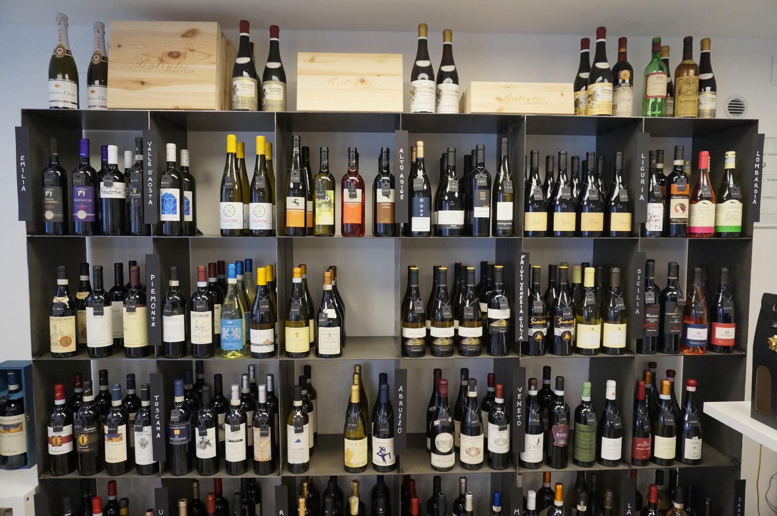 Vini italiani all'enoteca Botrytis
