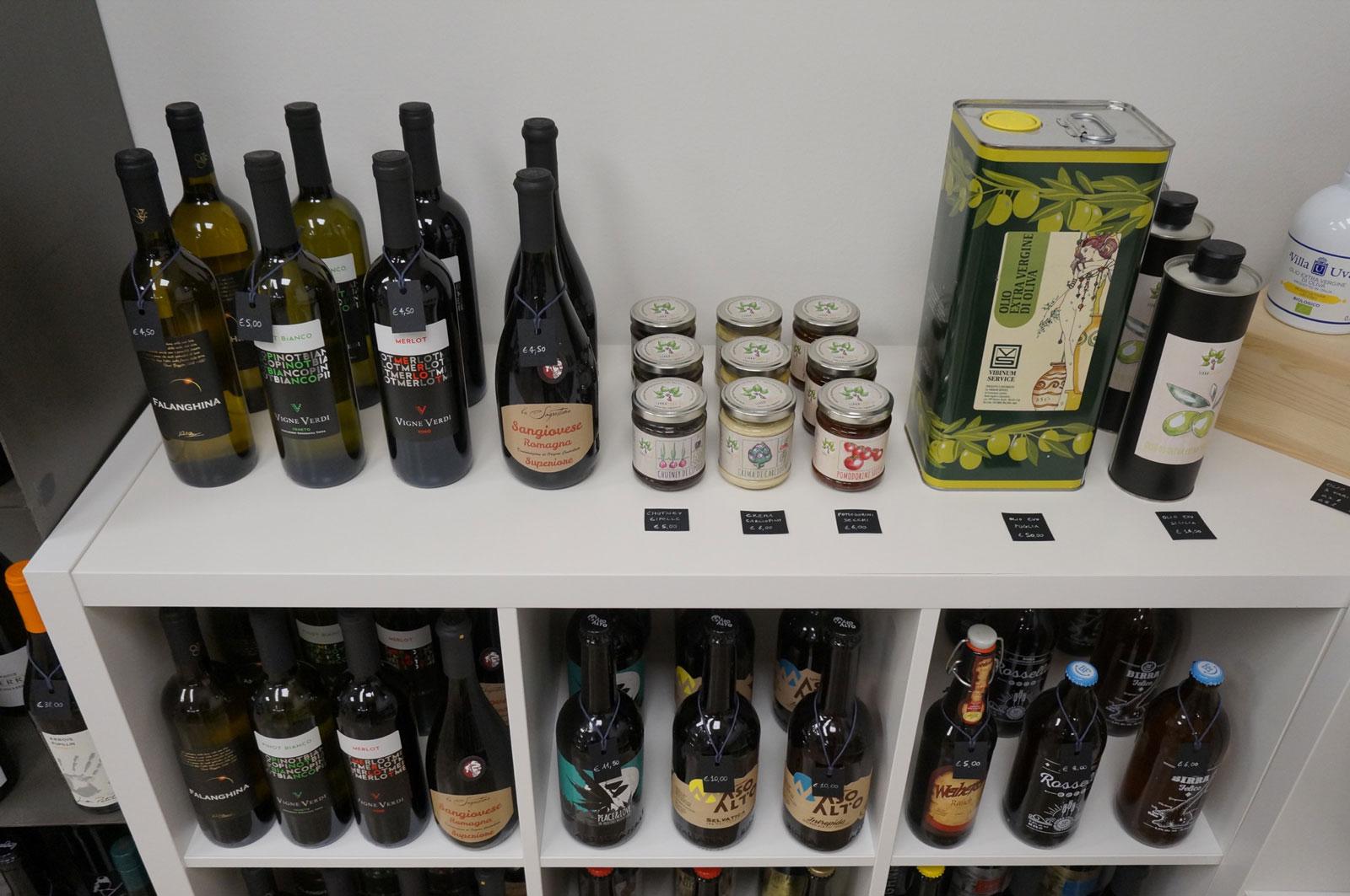 Falanghina, Vigne Verdi, Sangiovese, Olio extra vergine in vendita all'enoteca botrytis